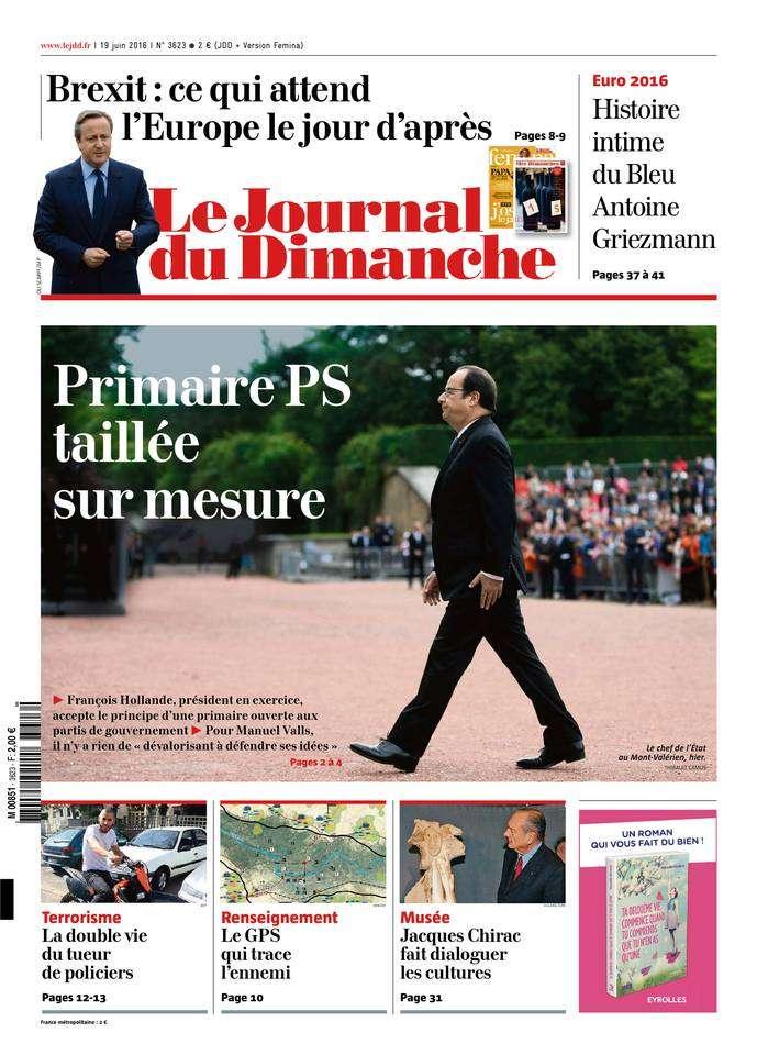 Le Journal du Dimanche 3623 du 19 Juin 2016