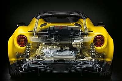 Alfa Romeo 4C Coupe Engine
