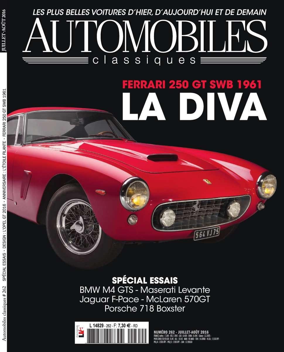 Automobiles Classiques 262 - Juiillet/Aout 2016