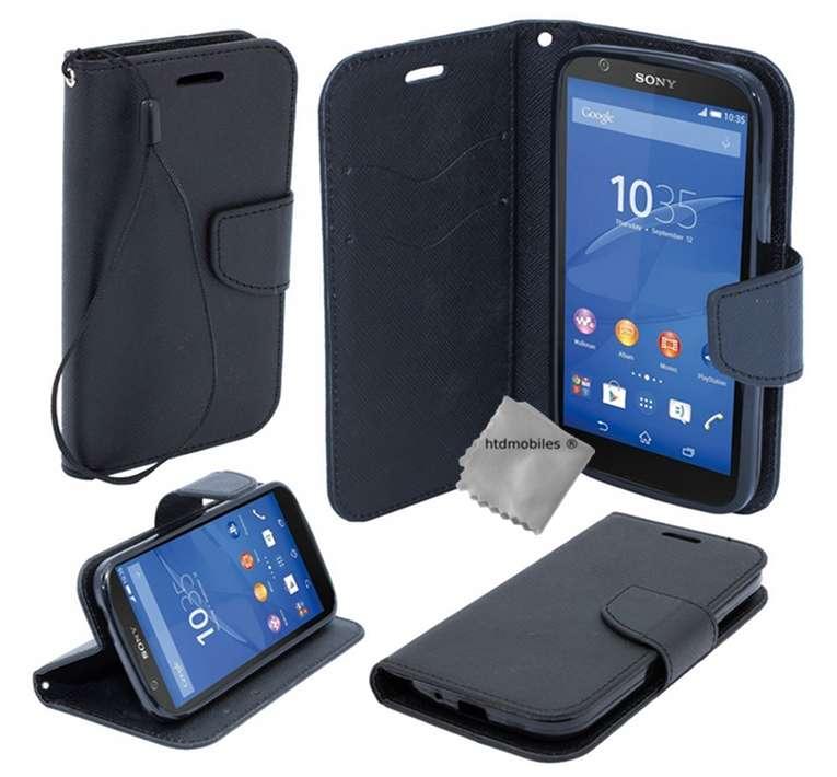 Housse-etui-coque-pochette-portefeuille-pour-Sony-Xperia-M5-film-ecran
