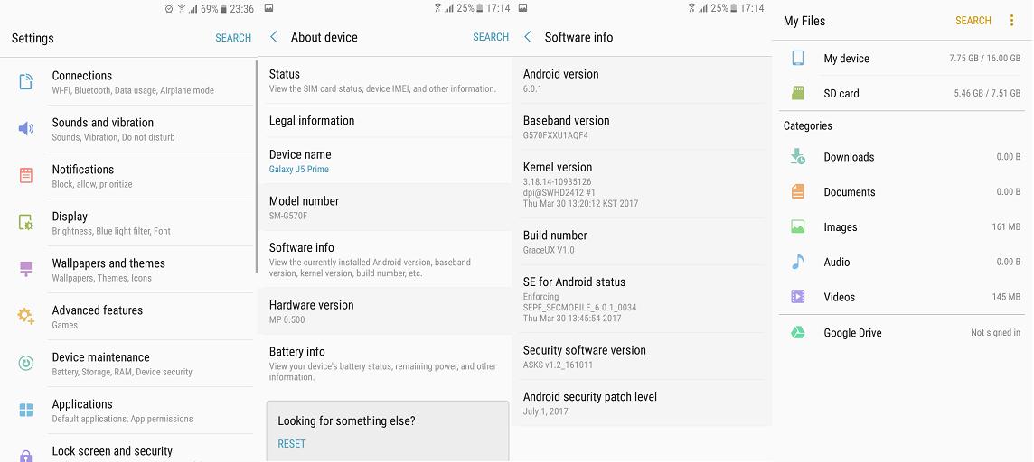 ROM][6 0 1] GraceUX V1 0 [Galaxy J5 Prime][…   Samsung Galaxy J5