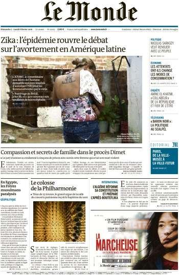 Le Monde du Dimanche 7 Fevrier 2016