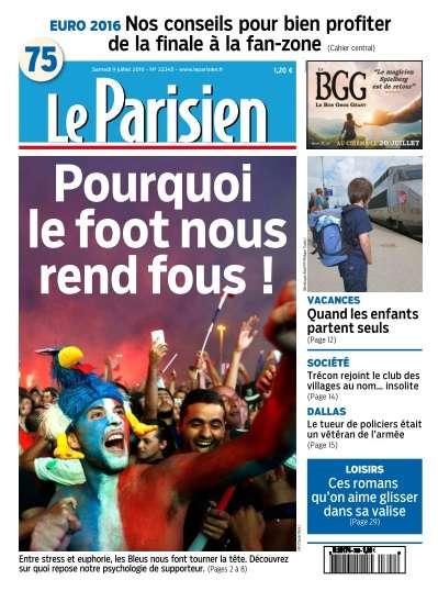 Le Parisien du Samedi 9 Juillet 2016