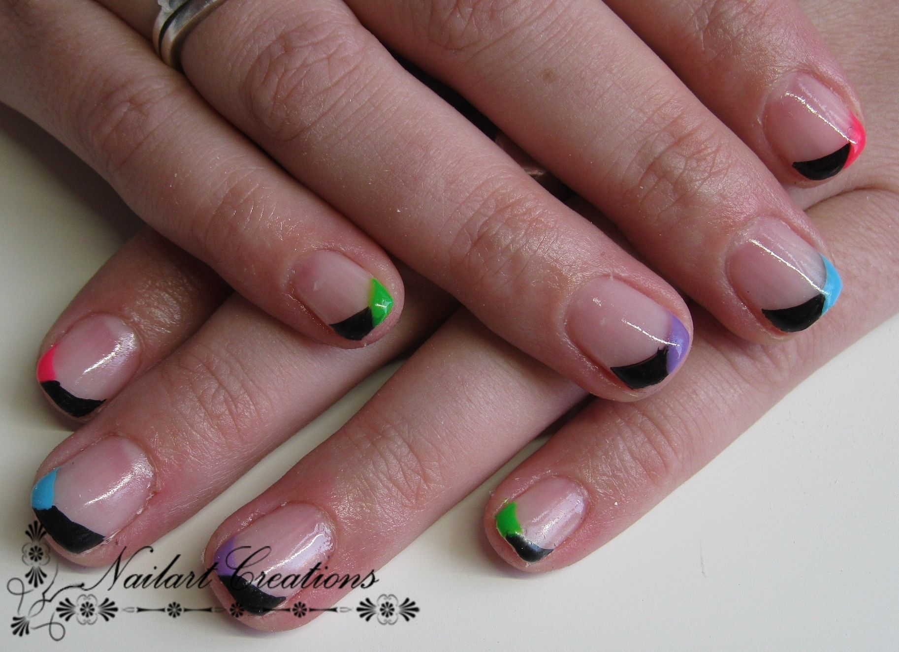 Nailart Creations Gelnagels Funky French
