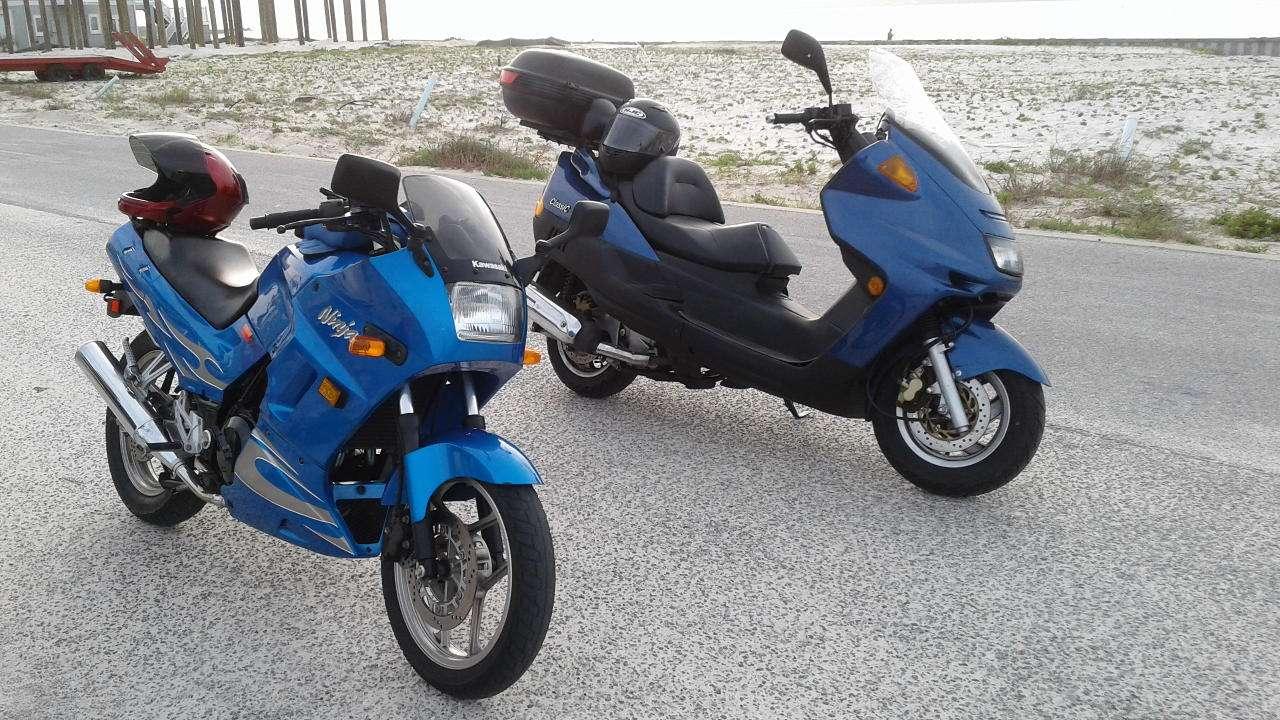2007 Ninja 250 and 2009 Aeolus 260 Classic