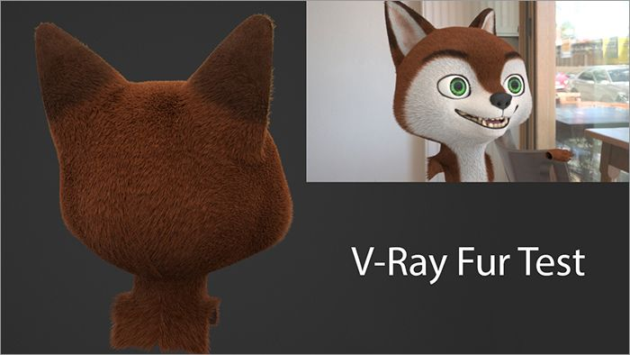 V-Ray Fur test