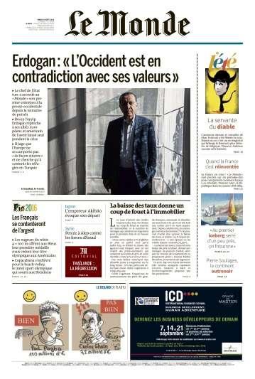 Le Monde du Mardi 9 Août 2016
