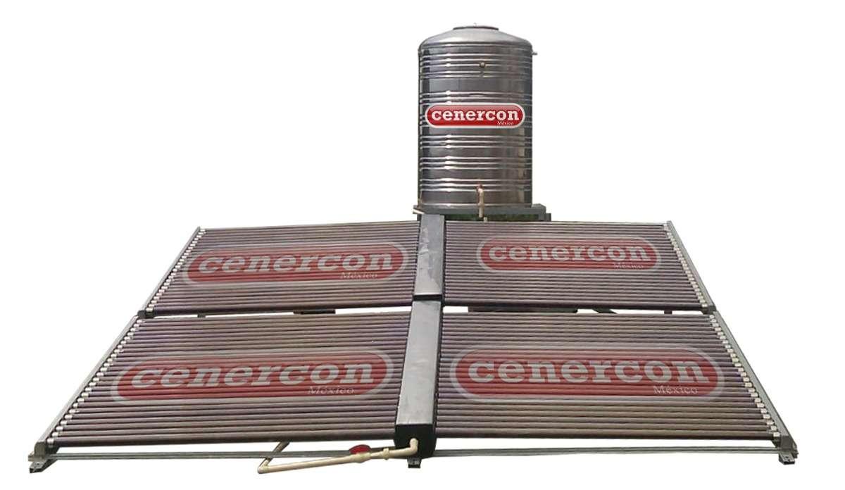 Calentador Solar Cenercon 1300 Lt Para 25 Personas 100 Tubos