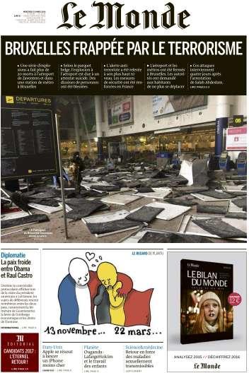 Le Monde du Mercredi 23 Mars 2016