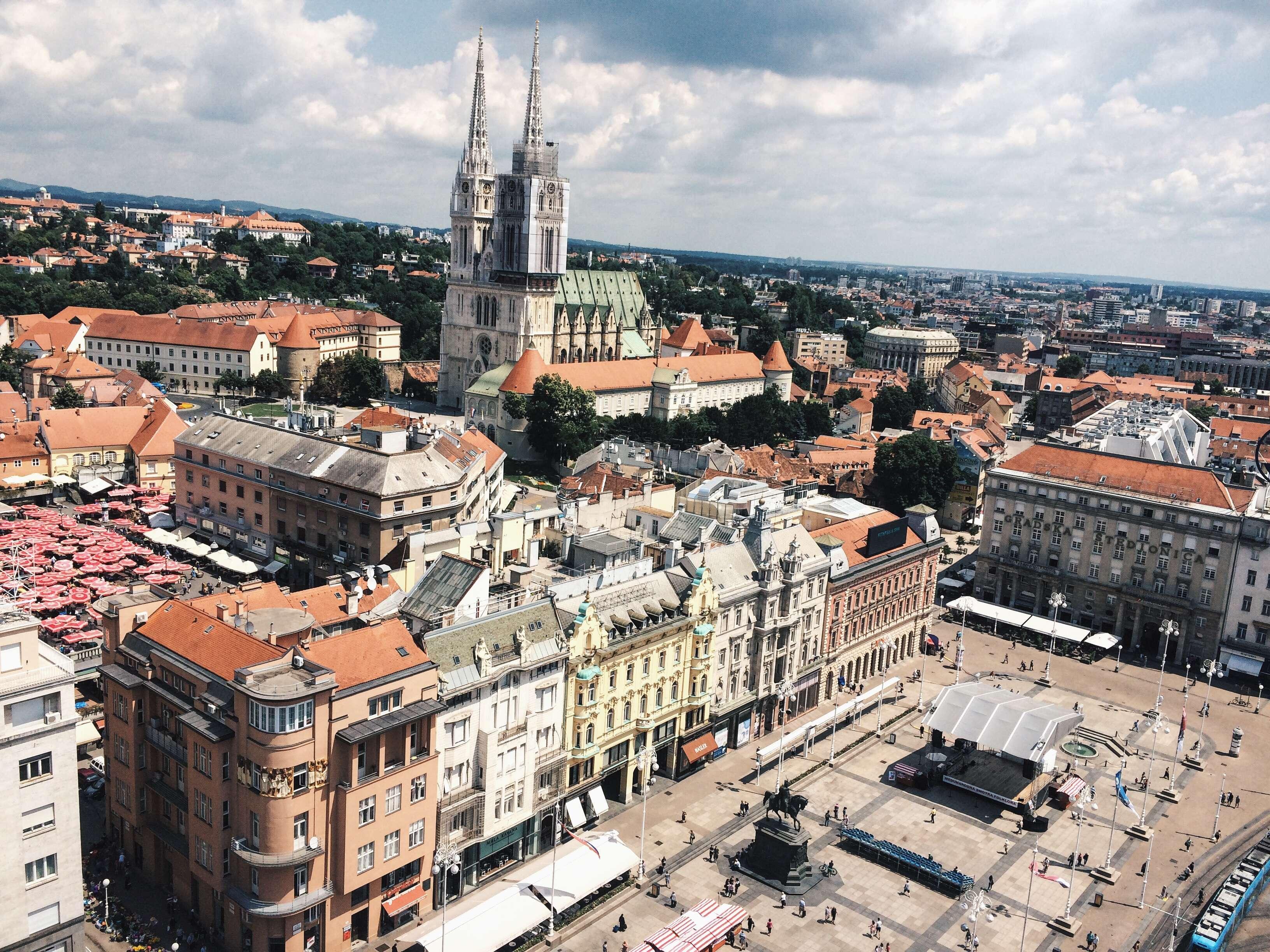 vue sur zagreb croatie