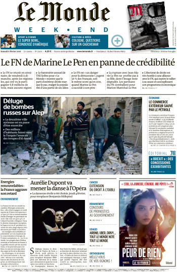 Le Monde week-end du Samedi 6 Fevrirer 2016