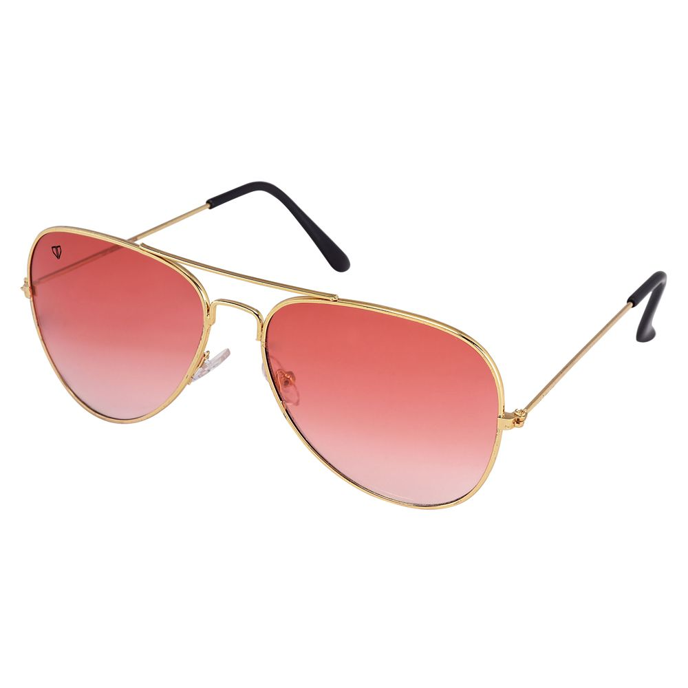 Walrus John Red Color Unisex Aviator Sunglass - WS-JOHN-100606