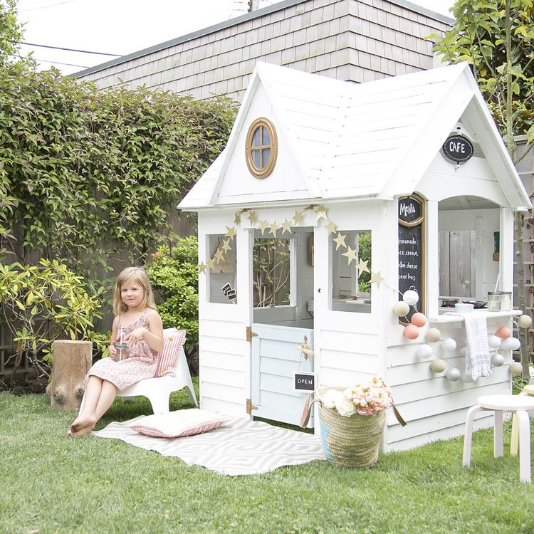 Scandanavian Playhouse Makeover by Winter Daisy via Things I Love Thursday on KaelahBee.com