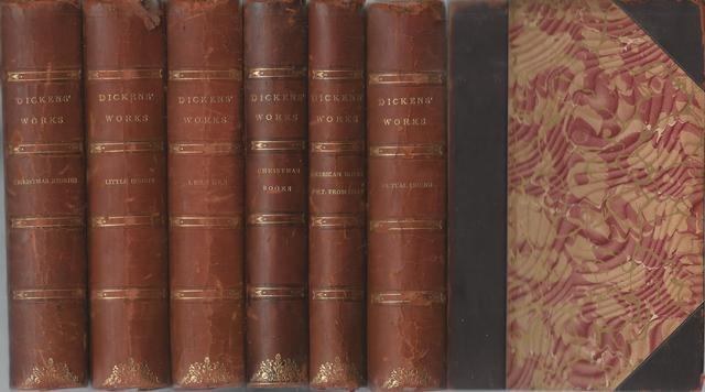 Works of Charles Dickens in 6 Leather Bound Volumes, Charles Dickens