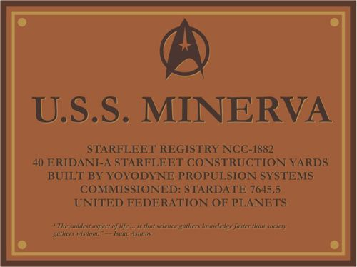 Minerva dedication plaque