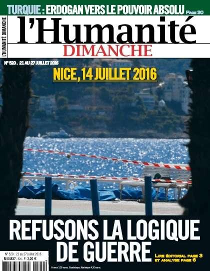 L'Humanité Dimanche - 21 au 27 Juillet 2016