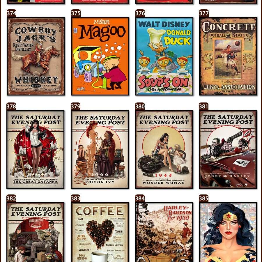 Placas, Vintage, Retro, Cerveja, Decoração, Antigas, MDF, Brahma Chopp, Jack Daniels, Kombi Antiga