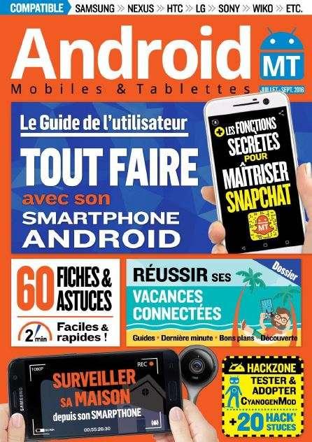 Android Mobiles et Tablettes - Juillet-Aout-Septembre 2016