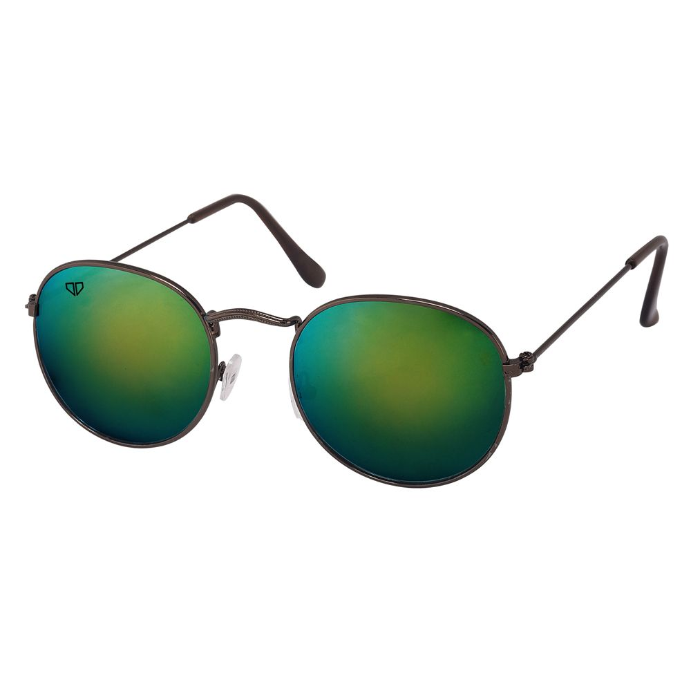 Walrus Royal Green Mirror Color Unisex Oval Sunglass- WS-RYL-II-190909