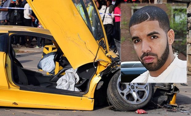 Breaking News, Rapper Drake Crashed His lamborghini murcielago, Speeding In A School Zone