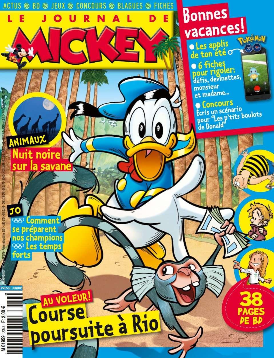 Le Journal de Mickey 3347 - 10 Août 2016