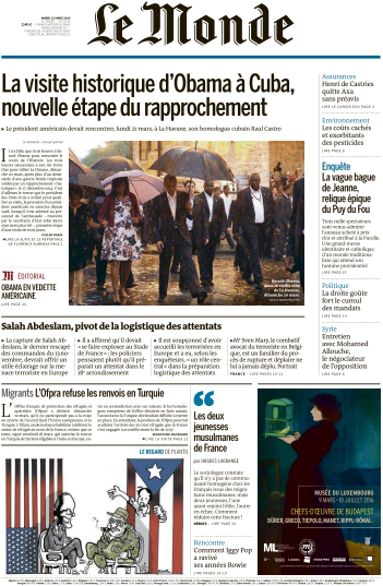 Le Monde du Mardi 22 Mars 2016