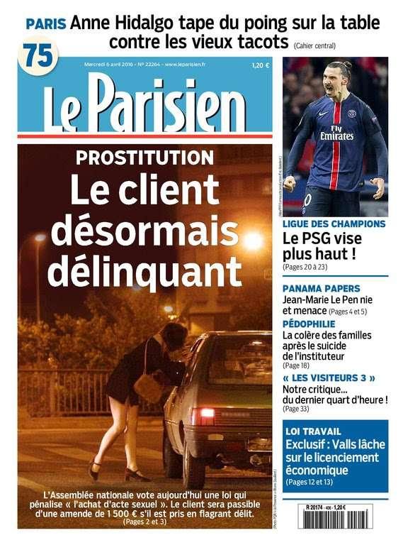 Le Parisien + Journal de Paris du Mercredi 6 Avril 2016
