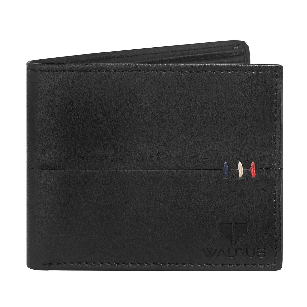 Walrus Daniel Black Color Men Leather Wallet- WW-DNL-02