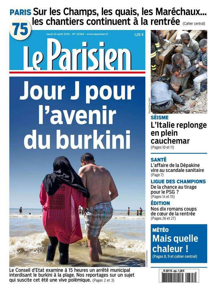 Le Parisien + Journal de Paris du Jeudi 25 Aout 2016