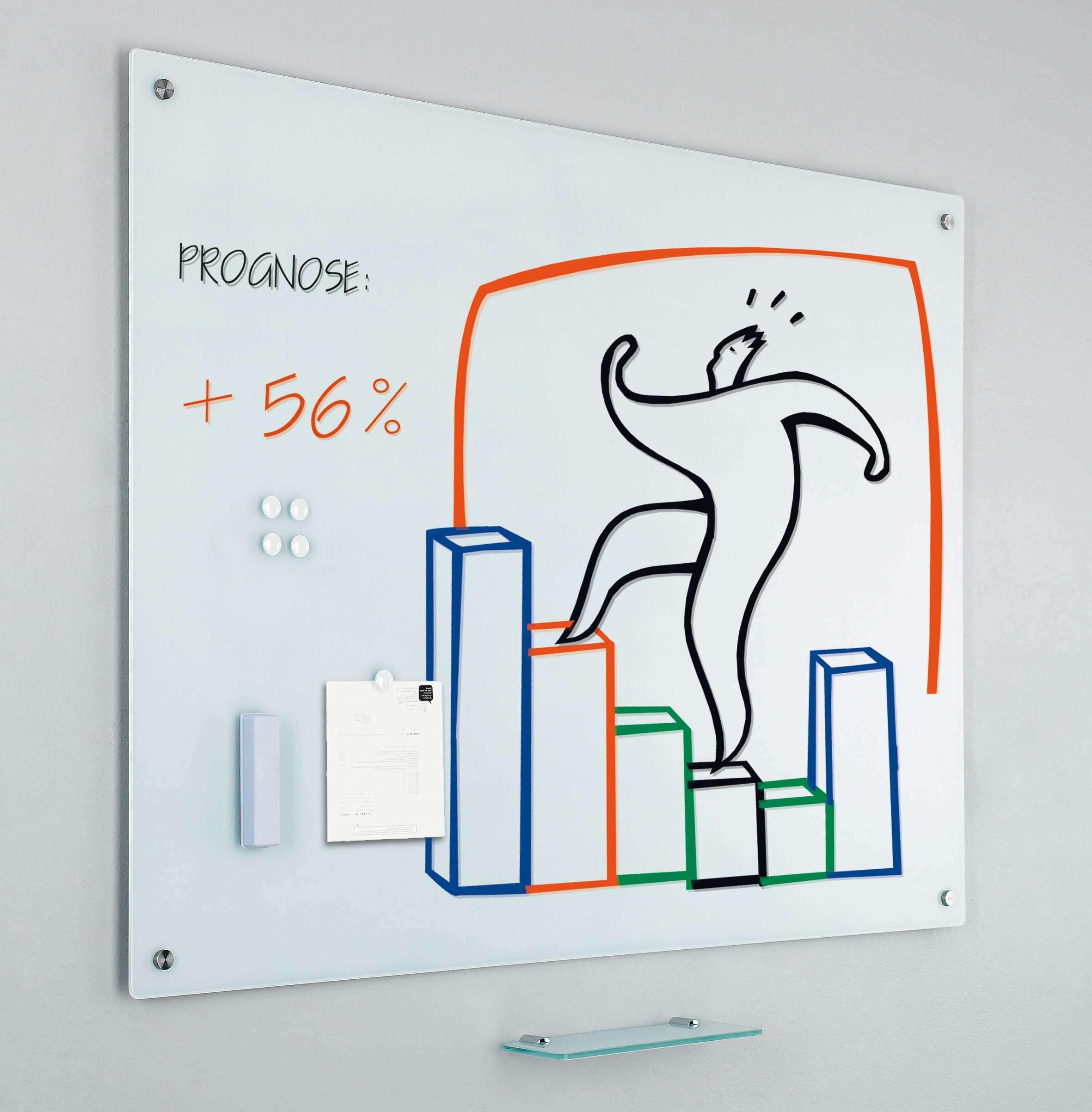 Photo: Glass2write glasbord, magnetisch, wit