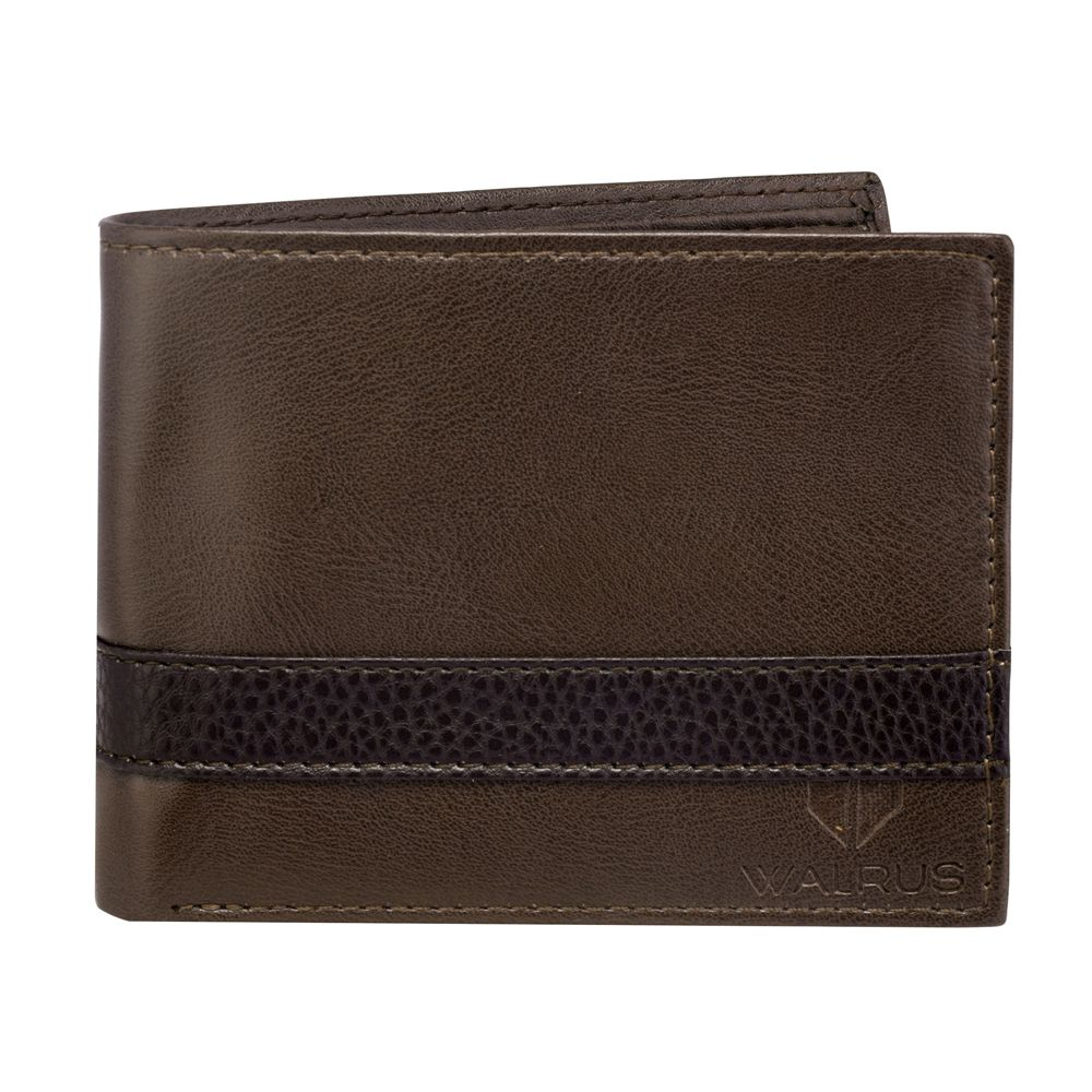Walrus Levi Brown Color Men Leather Wallet- WW-LV-09