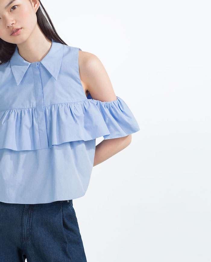 Camisa volantes Zara