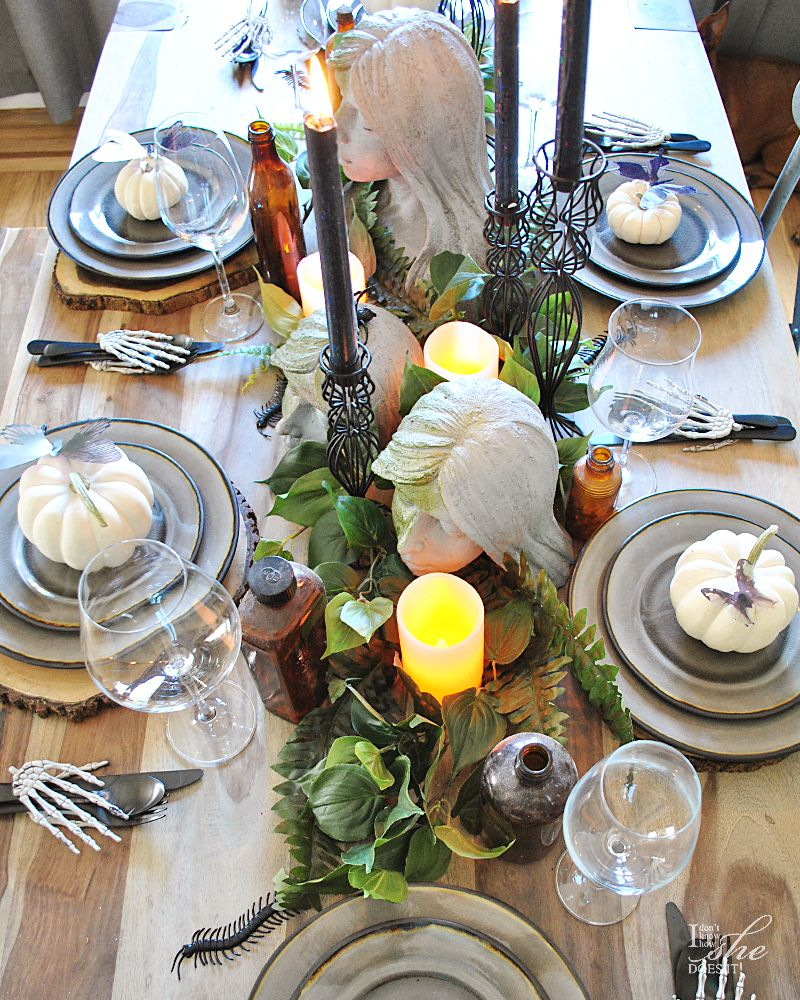 Haunted dining table setting