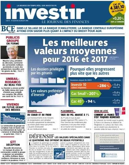 investir - 23 Juillet 2016