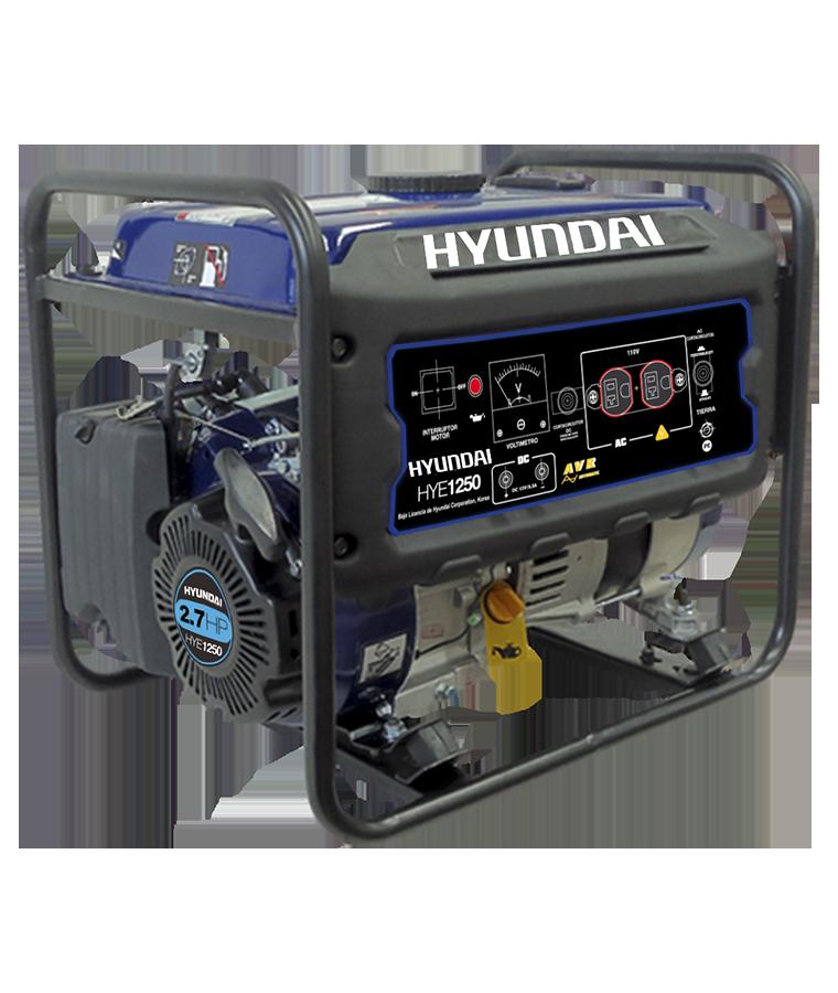 Generador Hyundai a Gasolina de 4 Tiempos Monofásico