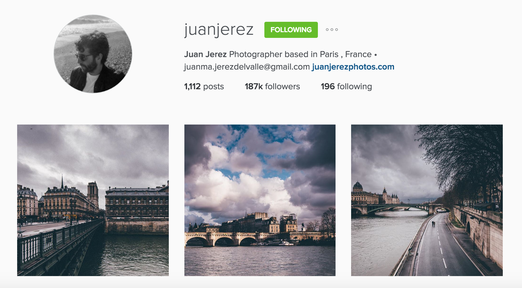instagram cariboo paris account juan jerez haussmann