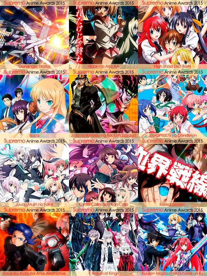 Eliminatorias Nominados a Mejor Anime de Acción 2015