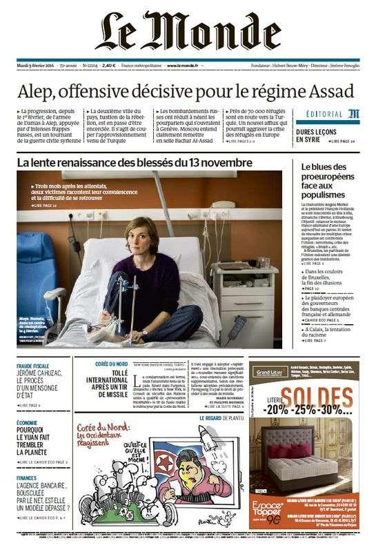 Le Monde du Mardi 9 Février 2016