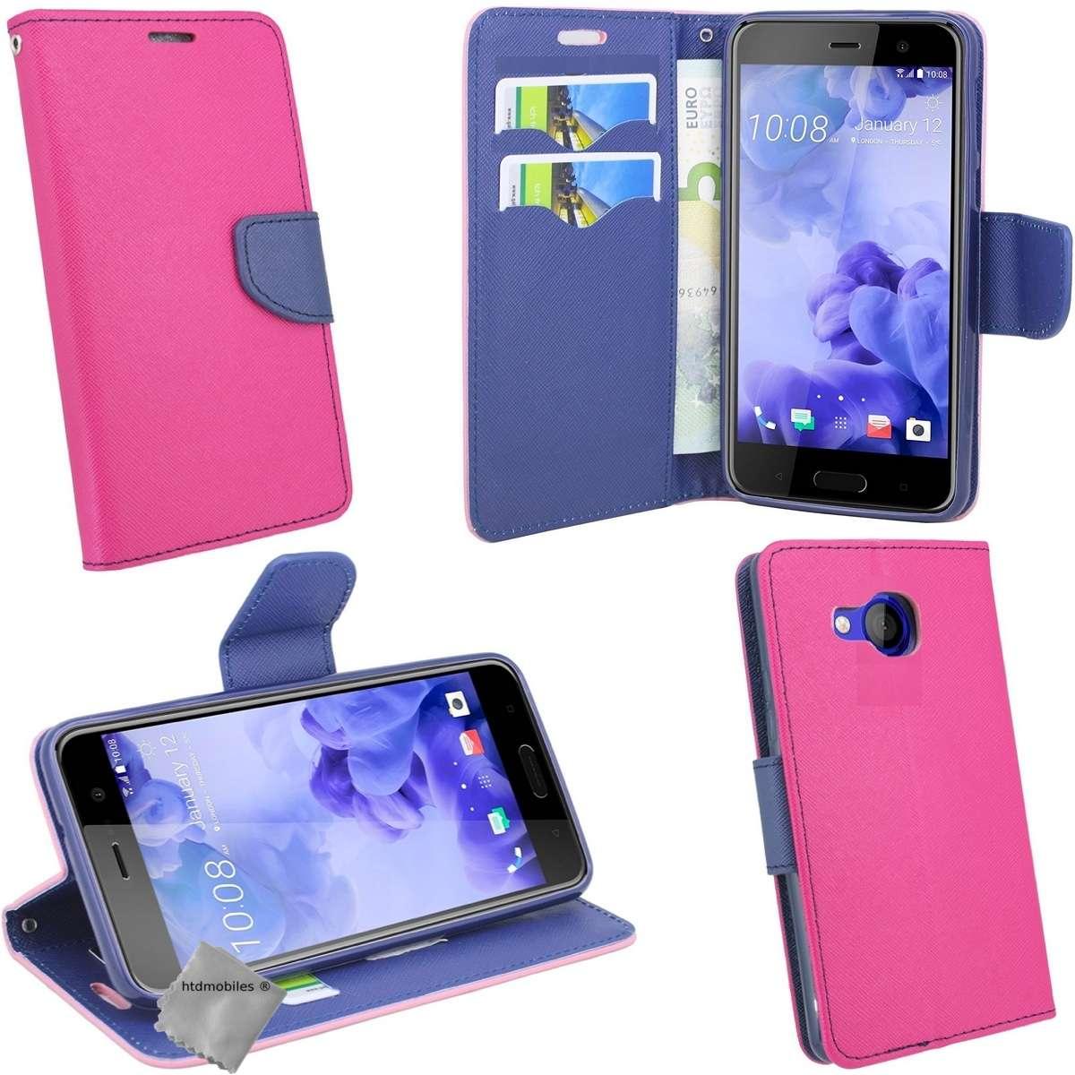 Housse-etui-coque-pochette-portefeuille-pour-HTC-U-Play-film-ecran