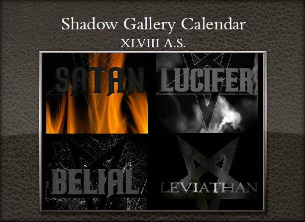 Shadow Gallery Calendar XLVII A.S.