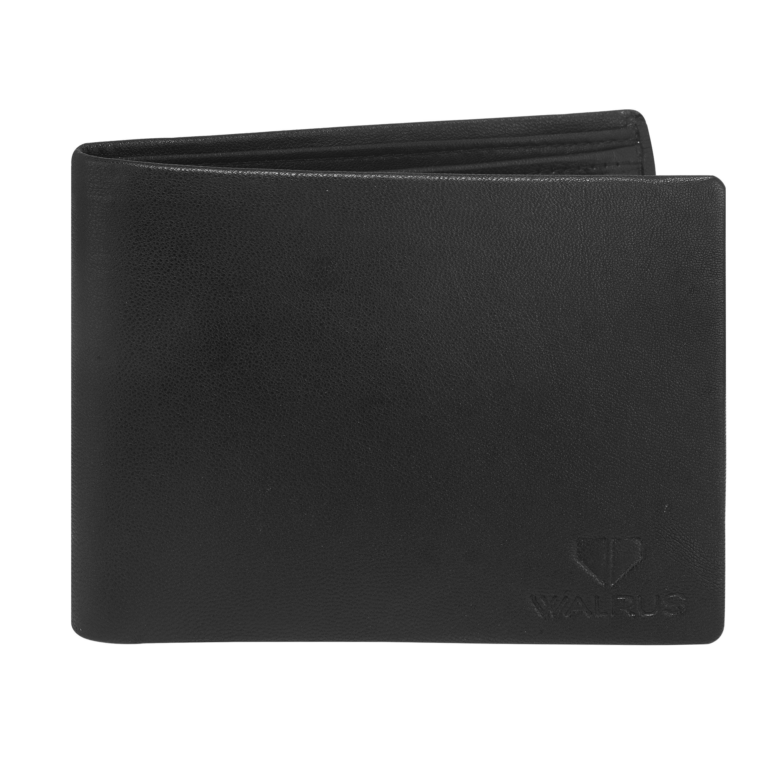 Walrus Imperial Black Color Men Genuine Leather Wallet (WW-IMP-02)