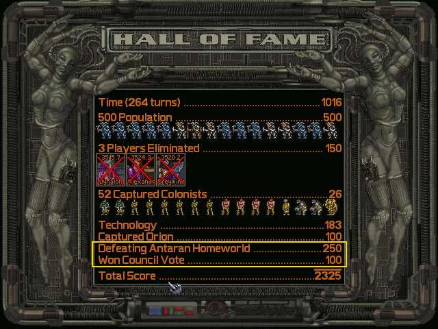 Victory - destruir Antares e vencer voto do conselho no mesmo turno