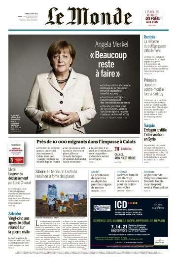Le Monde du Mardi 30 Août 2016
