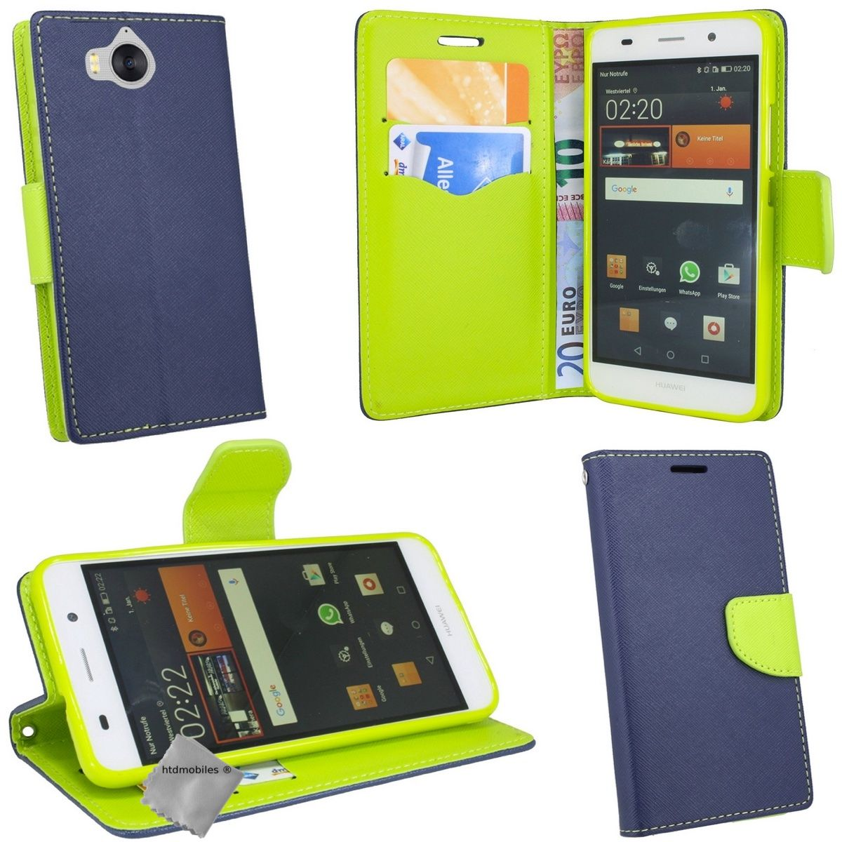 Housse etui coque portefeuille pour huawei y5 et y6 2017 for Housse y6 2017
