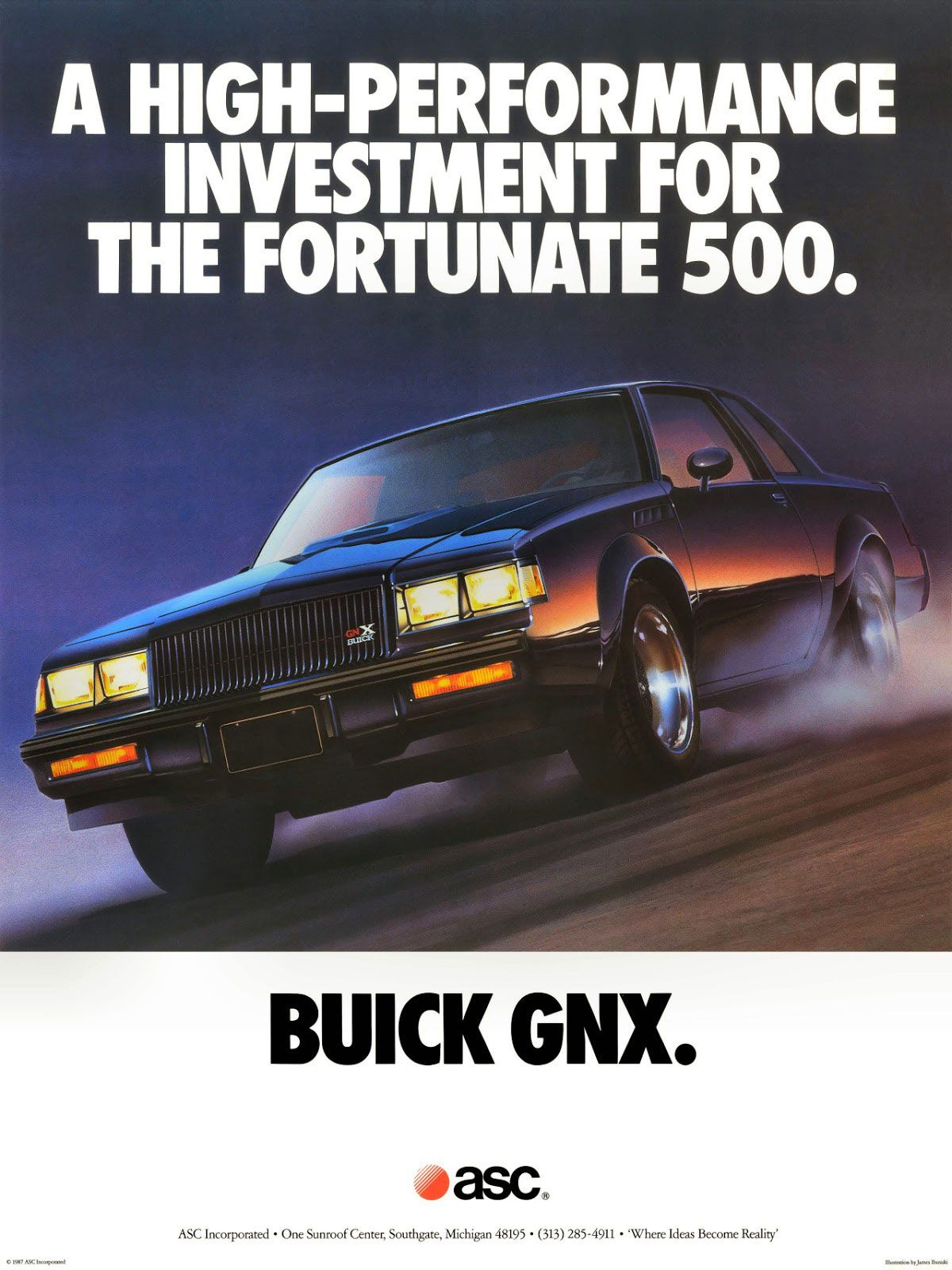 A high-performance investment for the Fortunate 500. The Buick GNX.