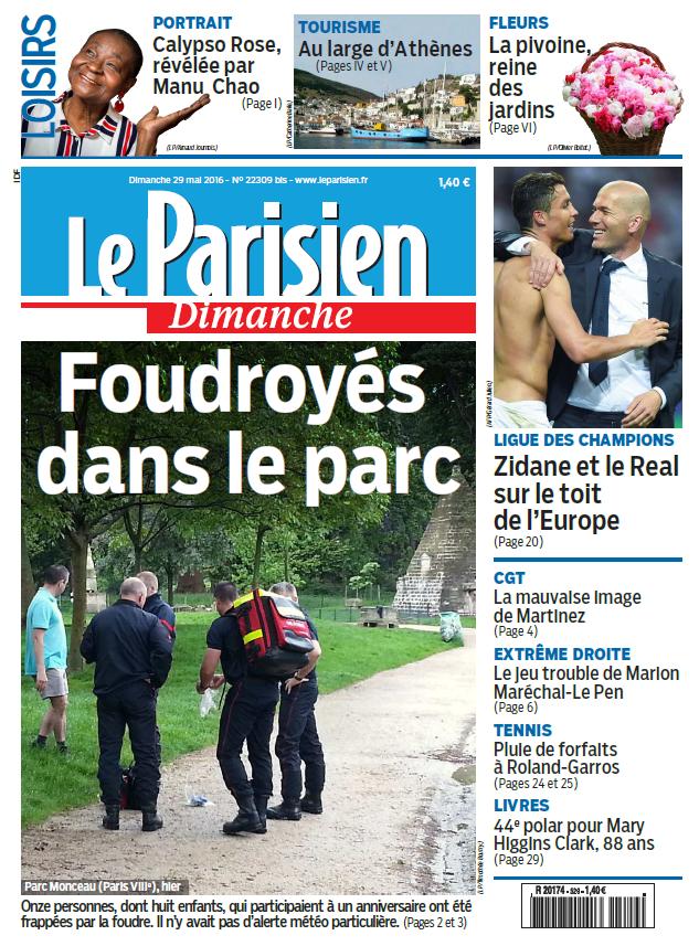 Le Parisien et votre guide du Dimanche 29 Mai 2016