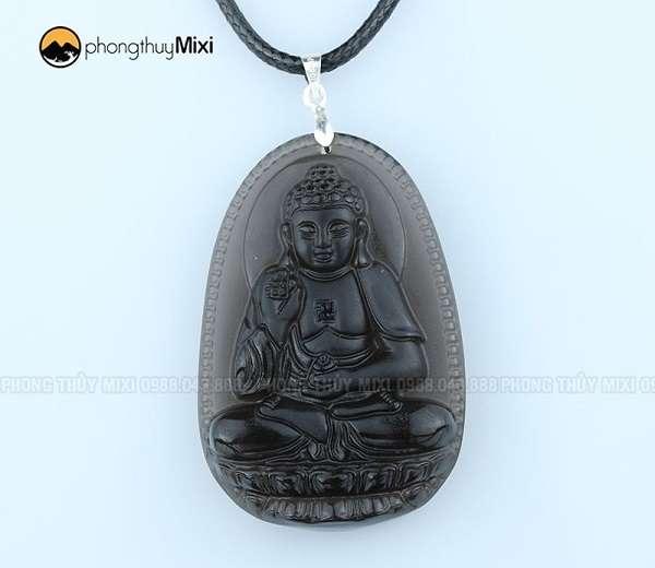 Phật Bản Mệnh A Di Đà Obsidian khói to