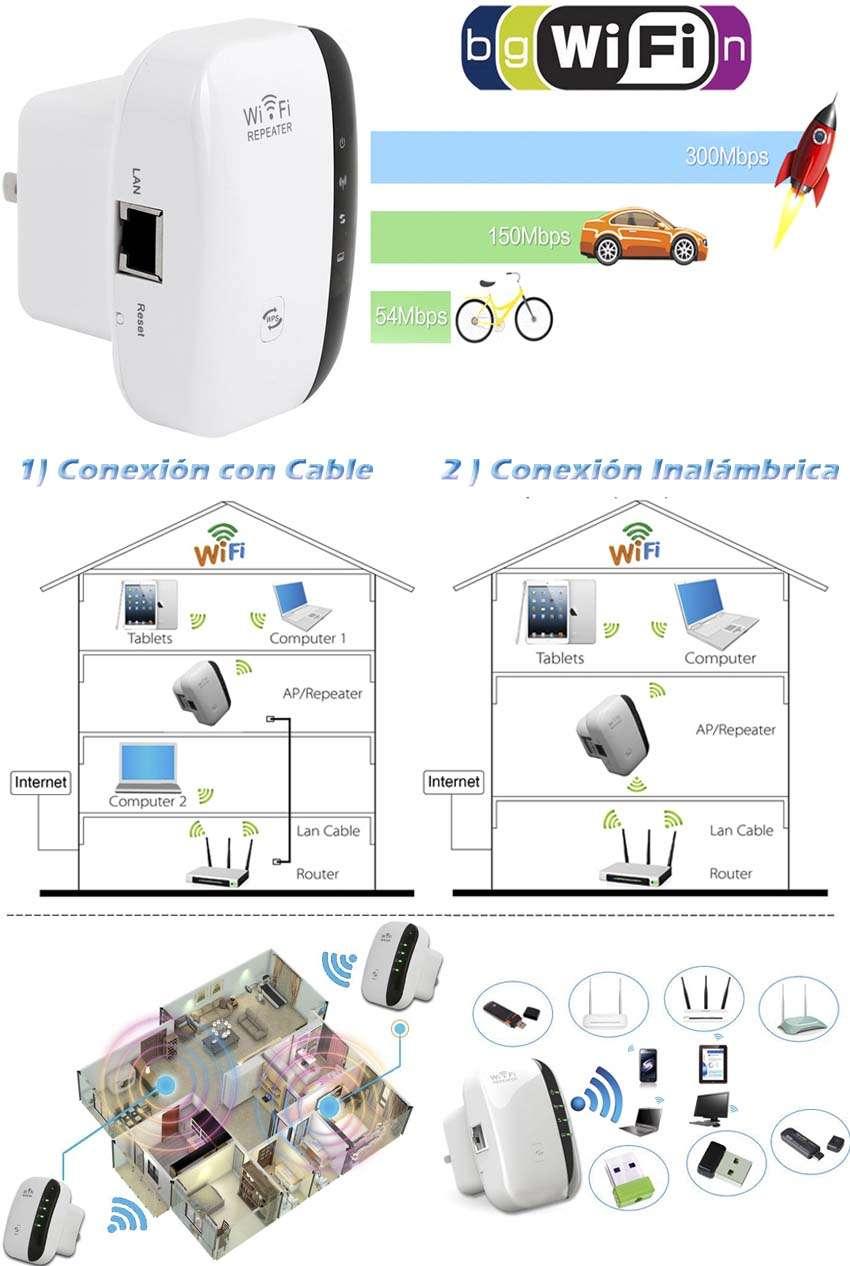 Repetidor Wifi Extensor Amplia Señal Wireless 300mb