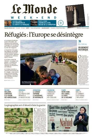 Le Monde du Samedi 27 Février 2016