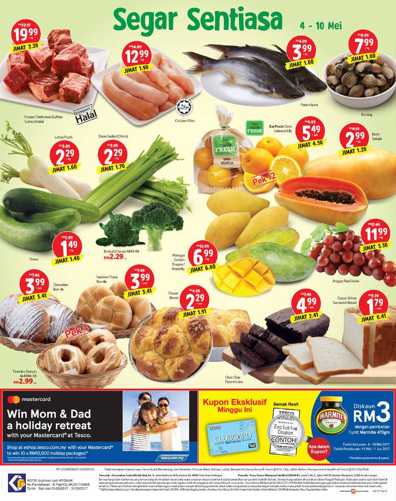 Tesco Malaysia Weekly Catalogue (4 May 2017 - 10 May 2017)